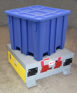Witte vibrating packers compact granular products.