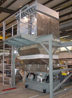 Witte fluid bed dryers feature integral baghous collectors atop the drying section.
