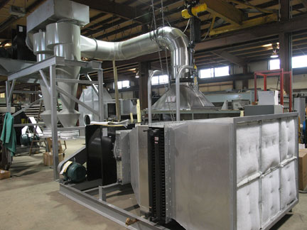 Witte 400 dryer cooler pellet classifier in one system