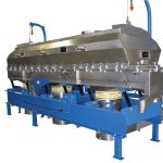Unitary steel base on Witte fluid bed dryers, coolers
