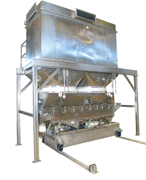 Witte fluid bed dryer with baghouse dust collector